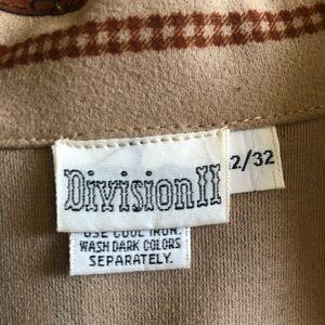Vintage Tops - 70s Vintage Division II Western Shirt